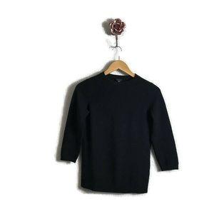 Talbots Black 100% Crewneck Cashmere Sweater